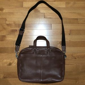 Coach Brown Leather Soft Sided Briefcase